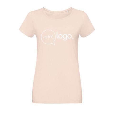 T-shirt personnalisé publicitaire pour femme avec col rond MARTIN