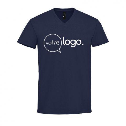 T-shirt en col «V» pour homme personnalisé publicitaire IMPERIAL