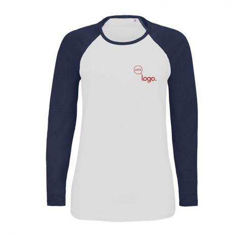 T-shirt à manches longues pour femme personnalisé publicitaire MILKY LSL