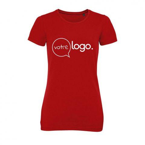 T-shirt personnalisé publicitaire avec col rond pour femme MILLENIUM