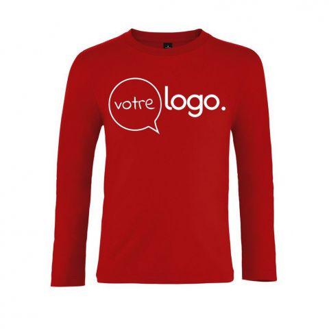 T-shirt pour enfant à manches longues personnalisé publicitaire LSL KIDS