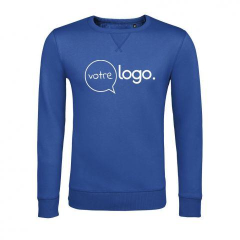 Sweat-shirt à col rond unisexe personnalisé publicitaire SULLY