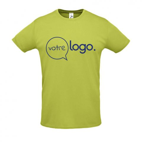 T-shirt personnalisé publicitaire de sport unisexe SPRINT