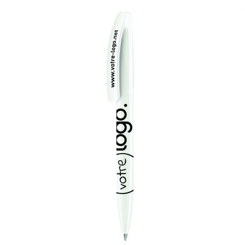 Stylo bille publicitaire - Bridge Polished Blanc