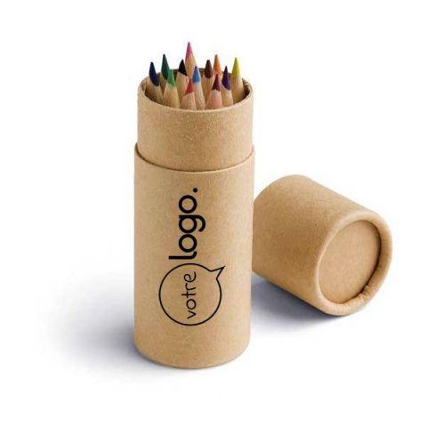 Boîte avec 12 crayons de couleur personnalisé