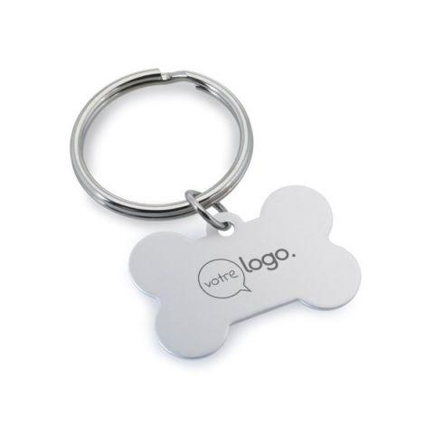 Porte-clés os personnalisable en aluminium