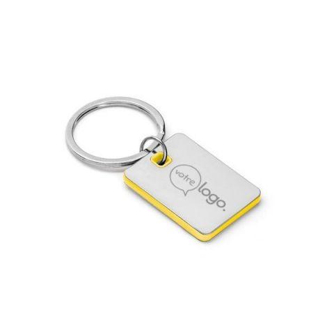 Porte-clés métal et ABS 29 x 40 x 4 mm