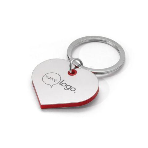Porte-clés coeur personnalisable en métal
