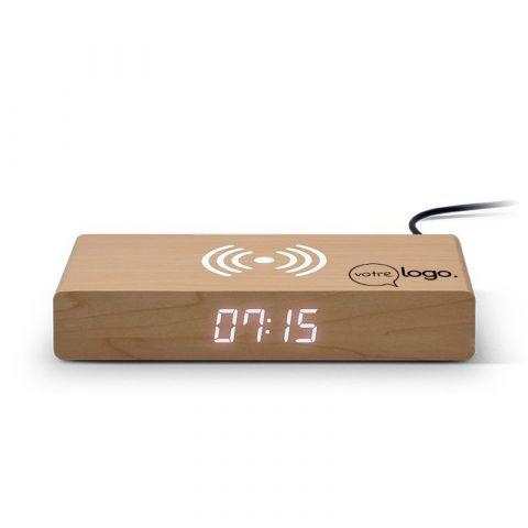 Réveil personnalisable avec chargeur par induction sans fil