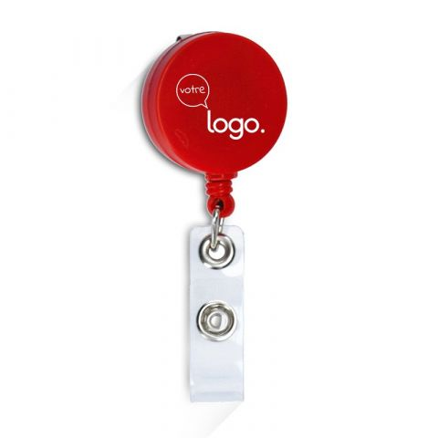 Porte badge extensible publicitaire