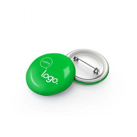 Badge rond personnalisable avec épingle - 63mm