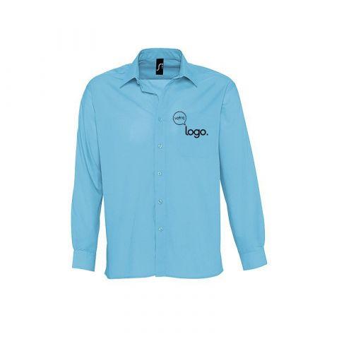 Chemise à manches longues personnalisée publicitaire pour homme BALTIMORE