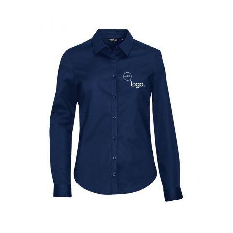 Chemise pour femme personnalisée publicitaire à manches longues  BLAKE