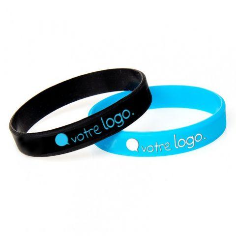 Bracelet en silicone personnalisable avec marquage en creux - 180mm
