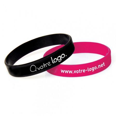 Bracelet publicitaire en silicone avec marquage en sérigraphie - 180mm