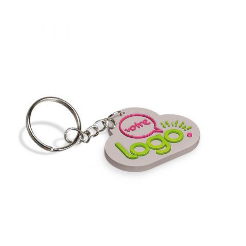 Porte-clés publicitaire en PVC souple 2D - de 31 à 40mm