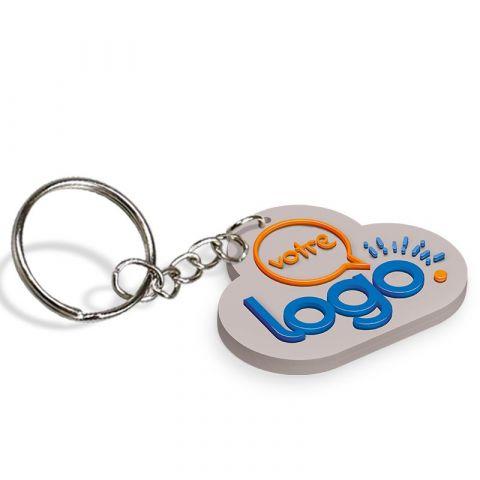 Porte-clés personnalisable en PVC souple 2D - de 61 à 70mm