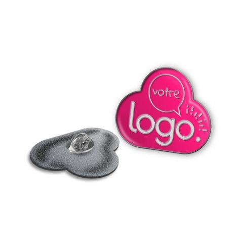 Pin's premium sur-mesure en résine de synthèse publicitaire  - De 30 à 34 mm