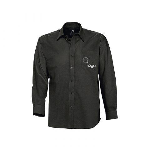 Chemise à manches longues pour homme personnalisée publicitaire BOSTON