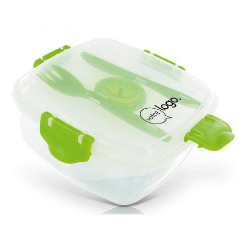 Boite à repas pour salade box en plastique personnalisée