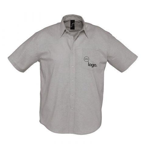 Chemise à manches courtes pour homme personnalisée publicitaire BRISBANE