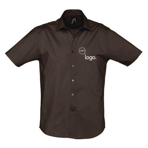 Chemise pour homme à manches courtes personnalisé publicitaire BROADWAY