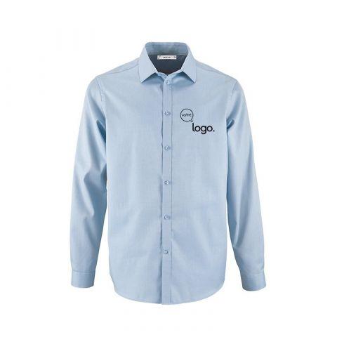 Chemise pour homme à chevron personnalisée publicitaire BRODU