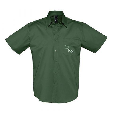 Chemise à manches courtes pour hommes personnalisée publicitaire BROOKLYN