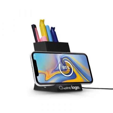 Chargeur induction & pot à crayons personnalisé