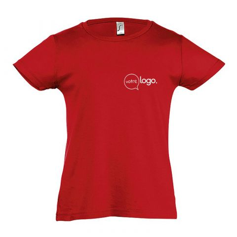 T-shirt pour petite fille personnalisée publicitaire CHERRY