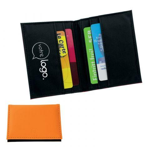 Porte carte de crédit publicitaire avec blindage stop ou anti RFID