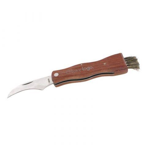 Couteau à champignon publicitaire avec étui en 600D