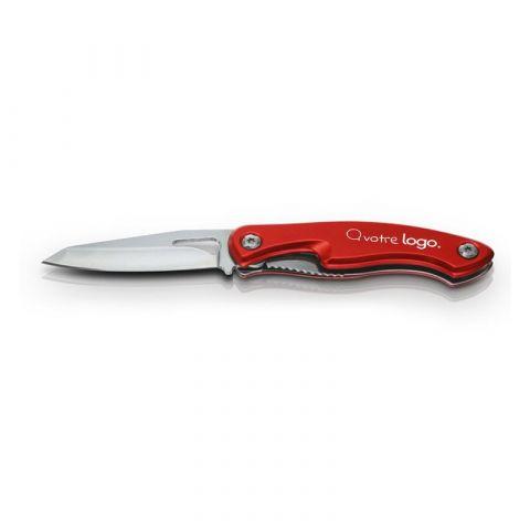 Couteau publicitaire avec manche en aluminium