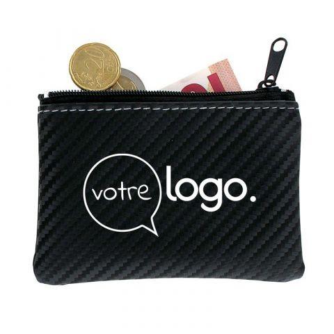 Porte monnaie personnalisé à fermeture zippée