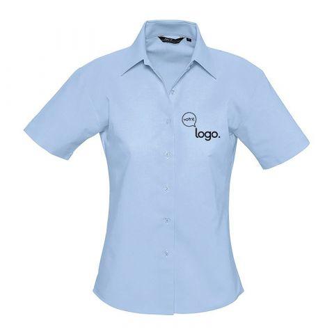 Chemise à manches courtes pour femme personnalisée publicitaire ELITE