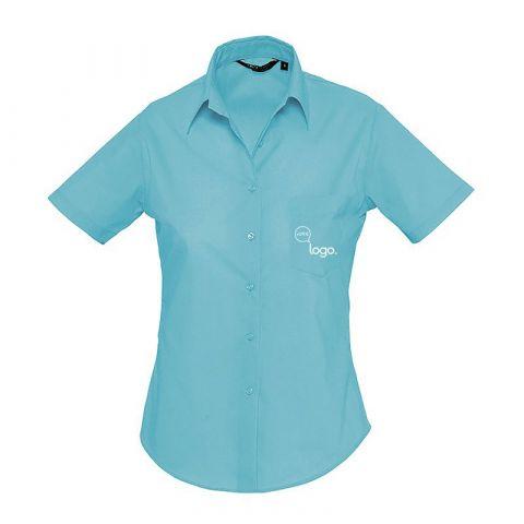 Chemise à manches courtes pour femme personnalisée publicitaire ESCAPE