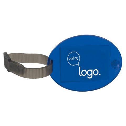 Etiquette de valise publicitaire avec bracelet réglable