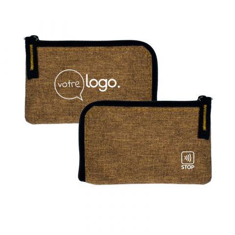 Porte monnaie/carte de crédit Anti-RFID personnalisé