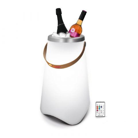 Seau a bouteille publicitaire lumineux & haut-parleur enceinte BT5.0 10W