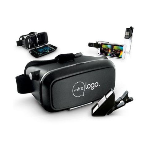 Kit personnalisé casque réalité virtuelle et objectif 3D