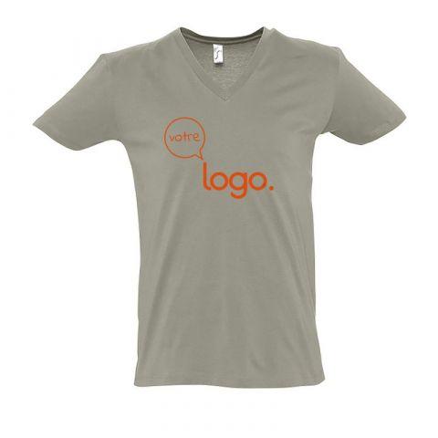 T-shirt pour homme au col «V» personnalisé publicitaire MASTER