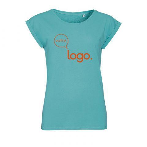 T-shirt pour femme à col rond personnalisé publicitaire MELBA
