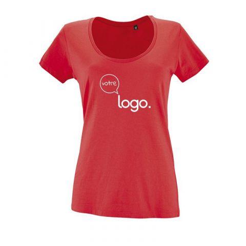T-shirt personnalisé publicitaire pour femme à col rond METROPOLITAN