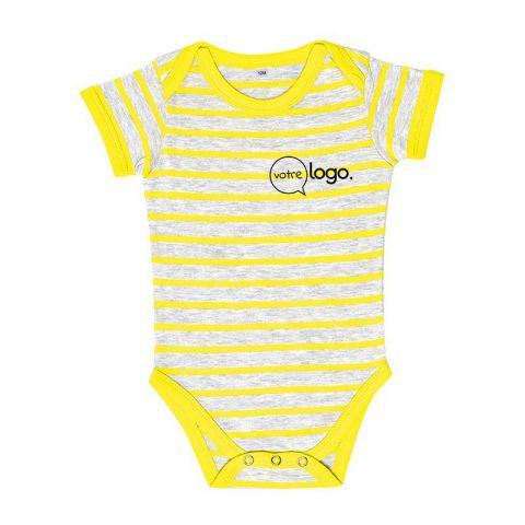 Body pour bébé rayé personnalisé publicitaire MILES