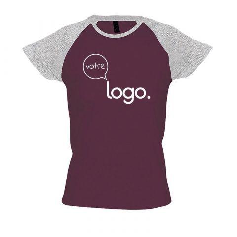 T-shirt pour femme manches raglan personnalisé publicitaire MILKY