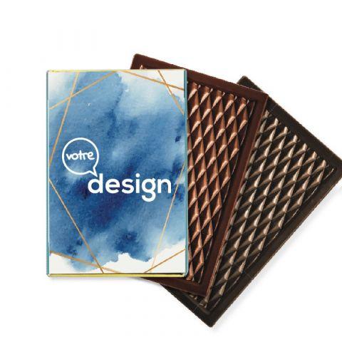 Mini tablettes de chocolat publicitaire 30g ®Le Petit Carré