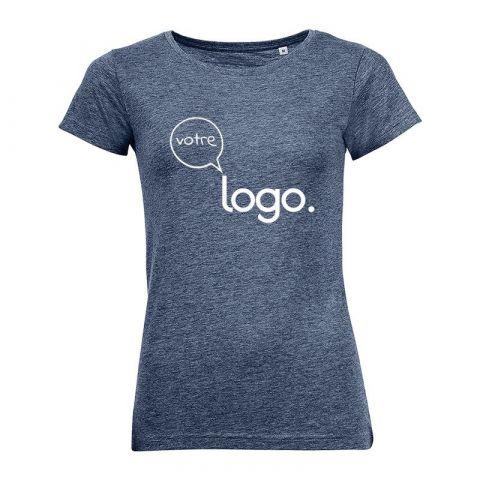 T-shirt personnalisé publicitaire pour femme au col rond MIXED