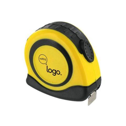 Mesure: Mètre publicitaire ruban jaune blocage automatique 3m x 16mm