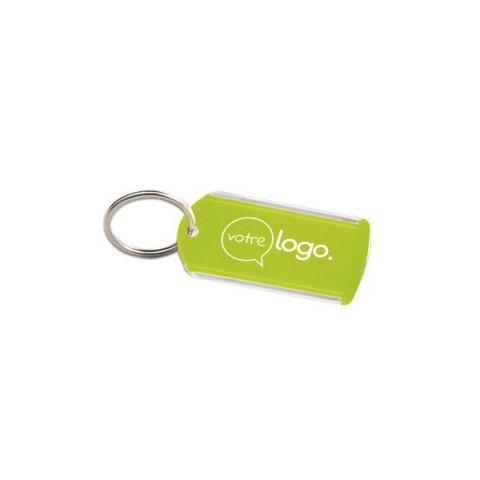 Porte-clés porte étiquette publicitaire
