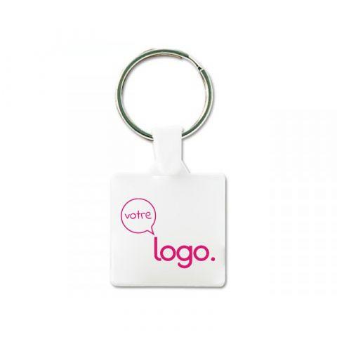 Porte-clés carré personnalisé